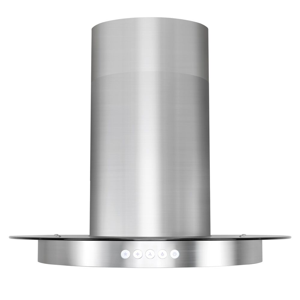 Glass Kitchen Hoods ~ Quot stainless steel tempered glass island mount range hood