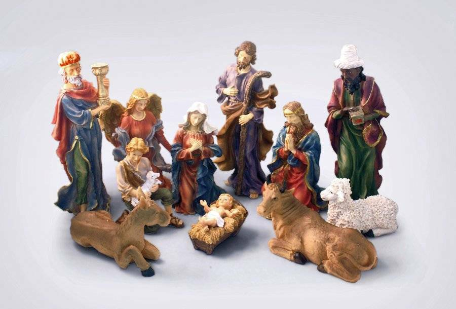 12 pc amazing 18 nativity set outdoor yard decor for Baby jesus lawn decoration
