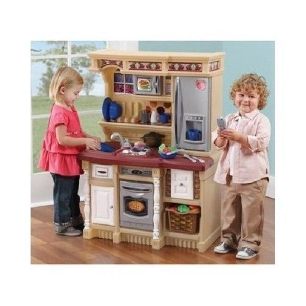 Kids Kitchen Playset Step2 Lifestyle Custom Interactive Playpretend Childs Stove Ebay