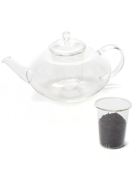 9 clear borosilicate glass teapot tea pot with loose leaf. Black Bedroom Furniture Sets. Home Design Ideas