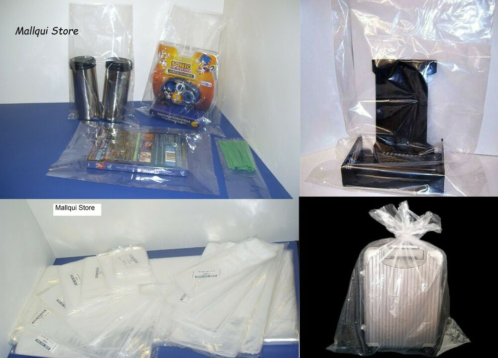 100 Clear 12 X 18 Poly Bags 1 Mil Plastic Flat Open Top Ebay