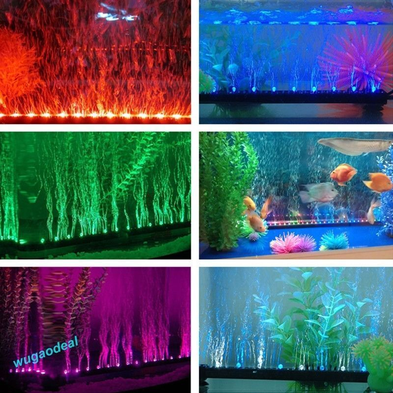 new aquarium fish tank beaming underwater submersible air bubble safe led lights ebay. Black Bedroom Furniture Sets. Home Design Ideas