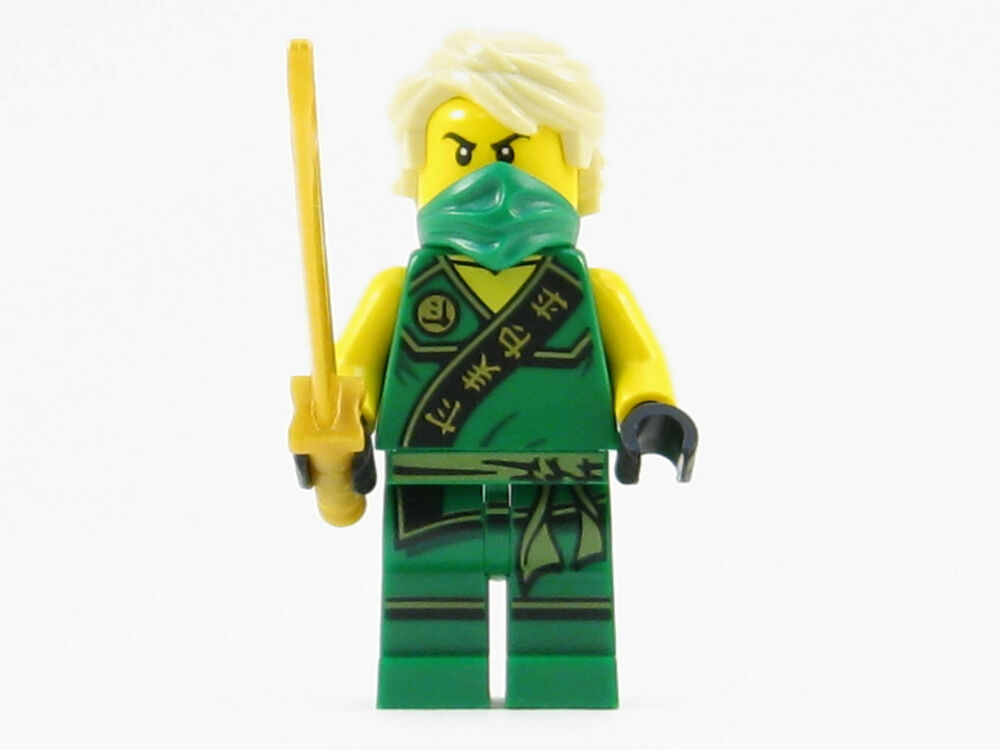 Lego ninjago sleeveless lloyd green ninja minifigure gold sword hair ebay - Ninja ninjago ...