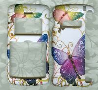 Rubberized butterfly faceplate PHONE HARD COVER CASE LG ENV 3 VX9200 VERIZON