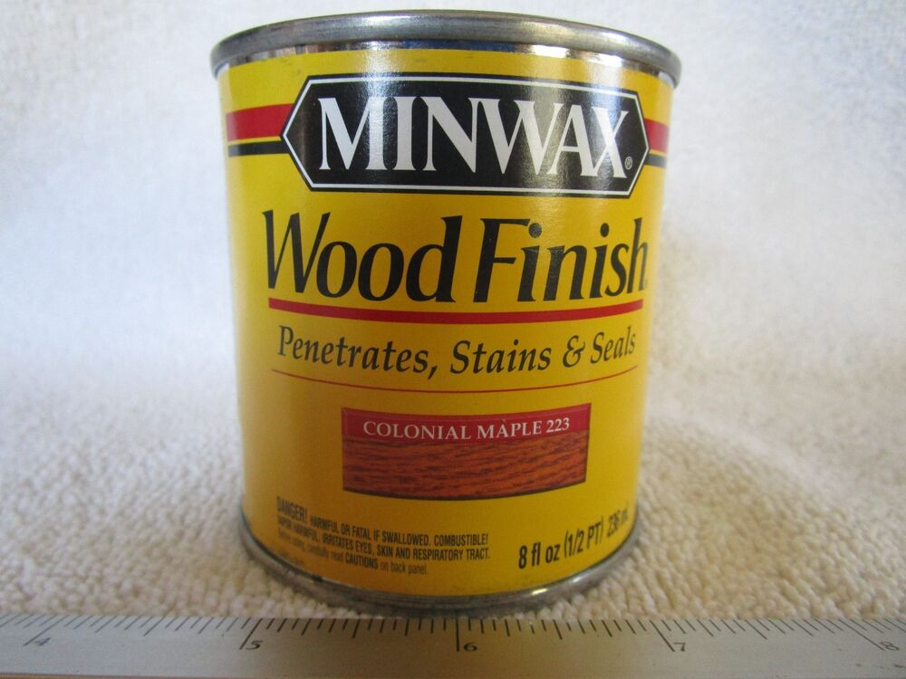 minwax wood finish colonial maple 223 oil based wood stain