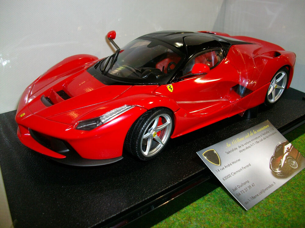 ferrari la ferrari rouge 1 18 hot wheels bly52 voiture miniature collection ebay. Black Bedroom Furniture Sets. Home Design Ideas