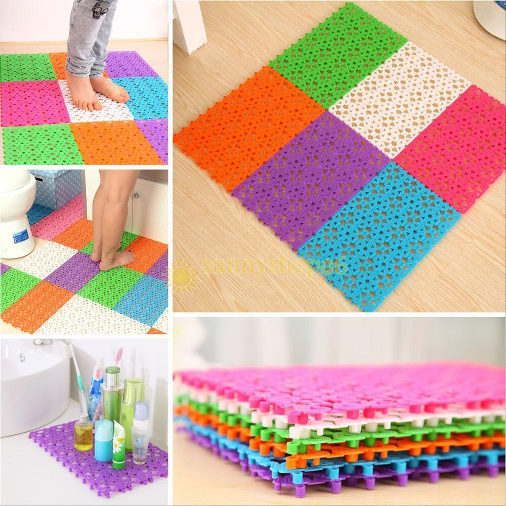 Multicolor Bathroom Shower Room Floor Mat Rug Anti Slip