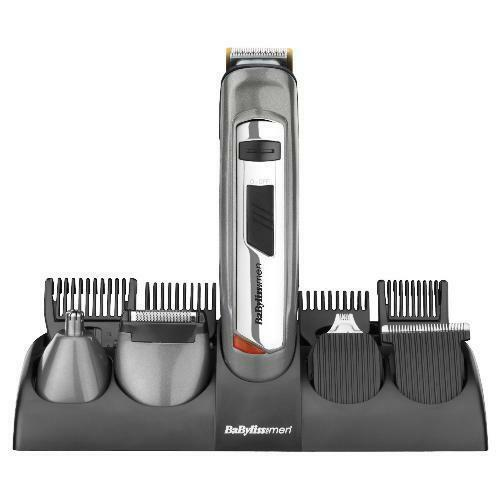 babyliss 7235u mens rechargeable hair beard trimmer clipper titanium kit set. Black Bedroom Furniture Sets. Home Design Ideas
