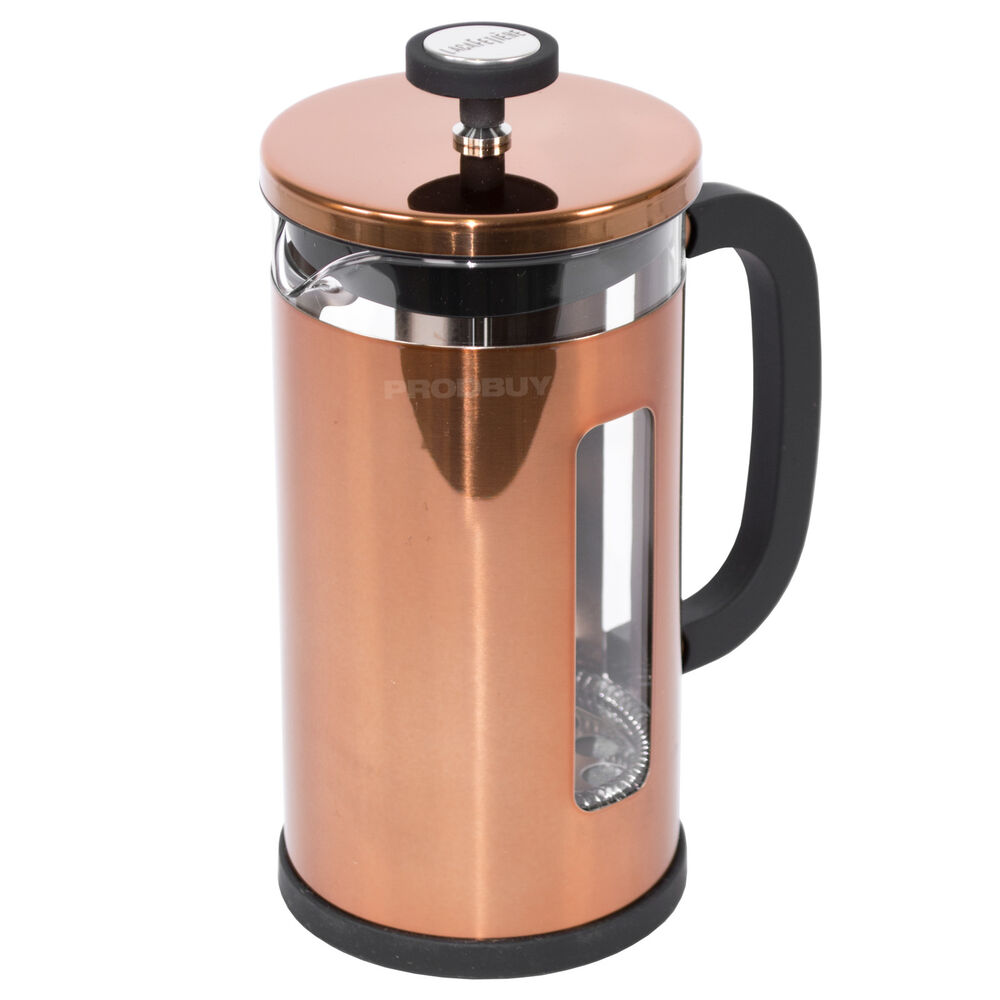 la cafetiere origins copper pisa stainless steel french press coffee pot jug ebay. Black Bedroom Furniture Sets. Home Design Ideas
