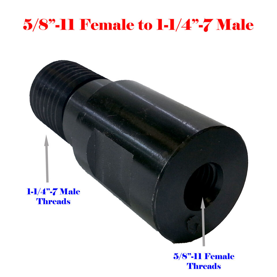Core drill bit adapter thread male to quot