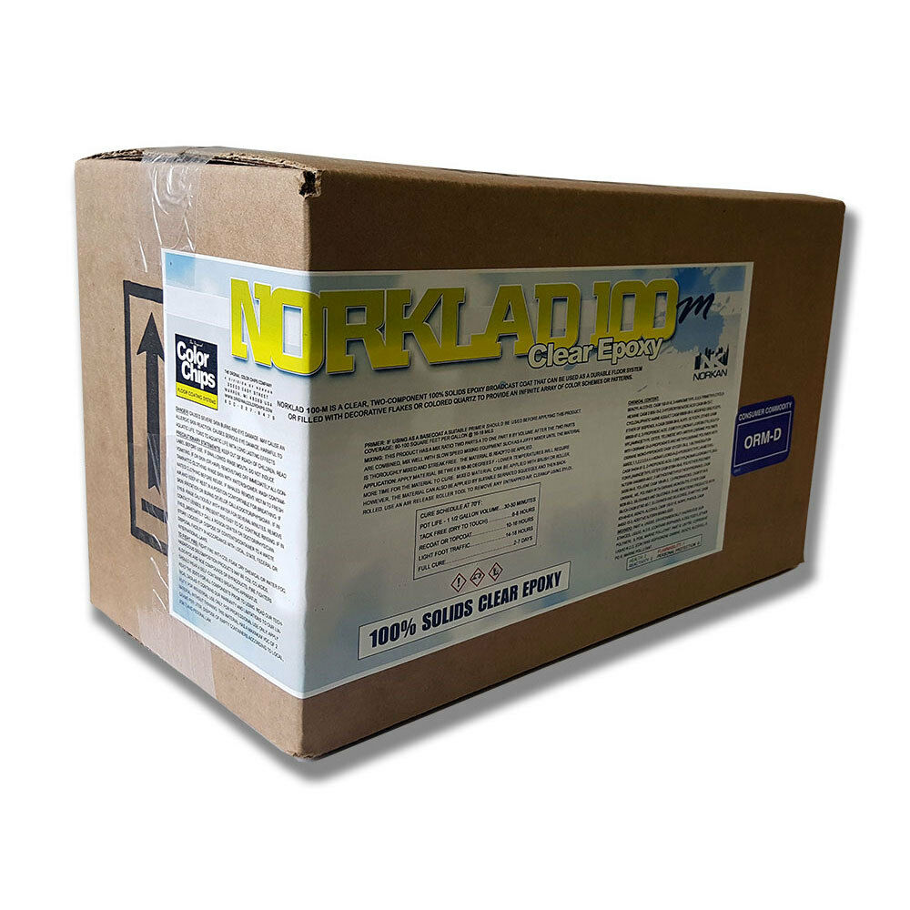 Clear Epoxy Paint : Norklad m solids epoxy clear coating gal