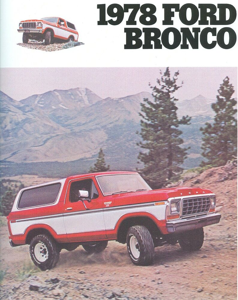 1978 ford bronco sales brochure ebay. Black Bedroom Furniture Sets. Home Design Ideas