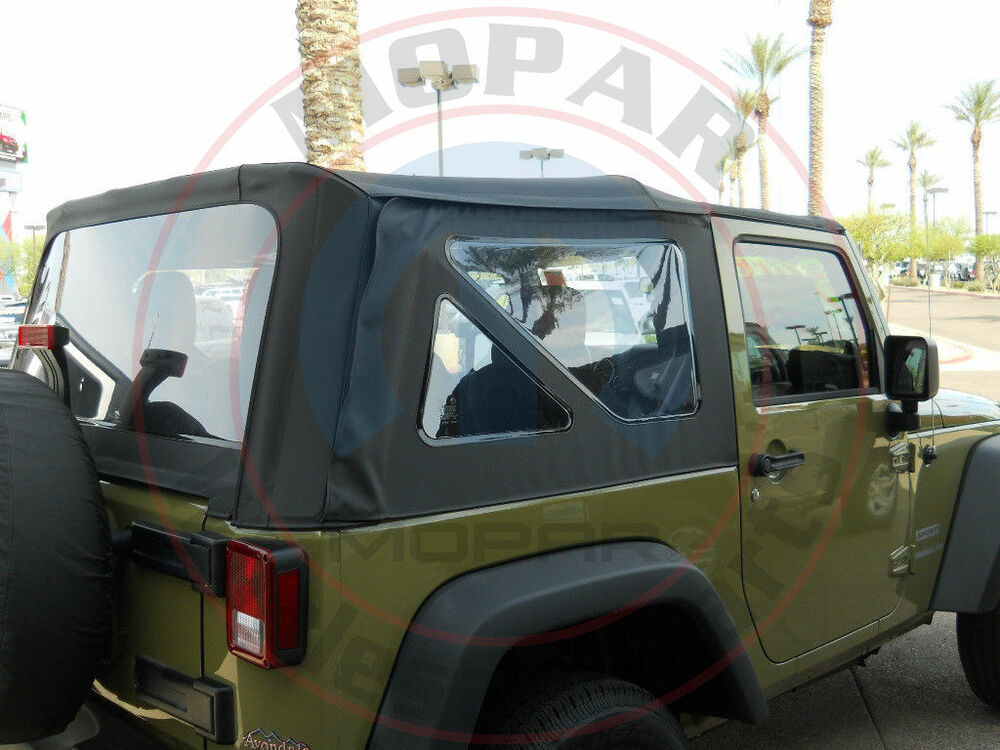 jeep wrangler jk 2 door black top rear windows replacement kit tinted oem mopar ebay. Black Bedroom Furniture Sets. Home Design Ideas
