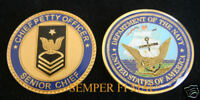 CHALLENGE COIN US NAVY SENIOR CHIEF PETTY OFFICER E-8 USS PROMOTION RETIRE GIFT