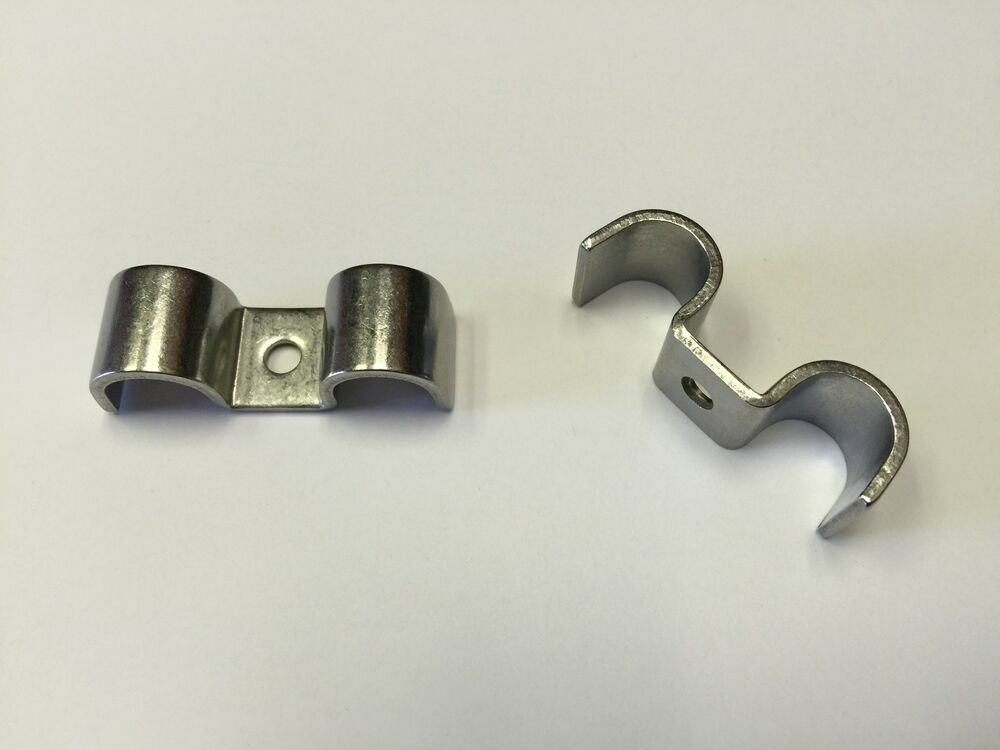Stainless steel double fuel line clamp pk ss flcd