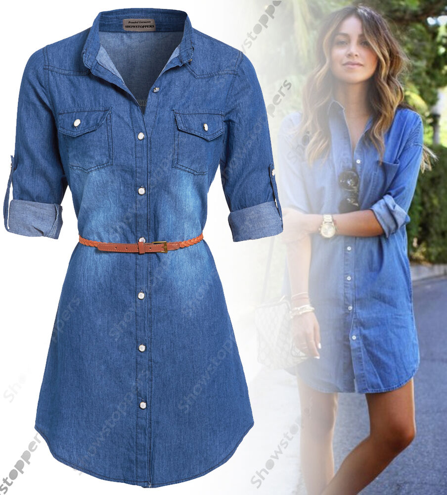 Cool This Womens Blue Denim Zip Detailed Shift Dress Is The Perfect Pick For The Upcoming Festival Season This Summer, But Also For Daytoday Dressing Featuring An All Over Denim Print With Front Mock Pockets And A Round Neck, This Is A