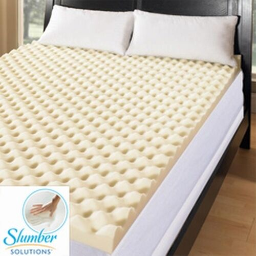 Slumber Solutions Big Bump 3 Inch Memory Foam Mattress Topper Ebay
