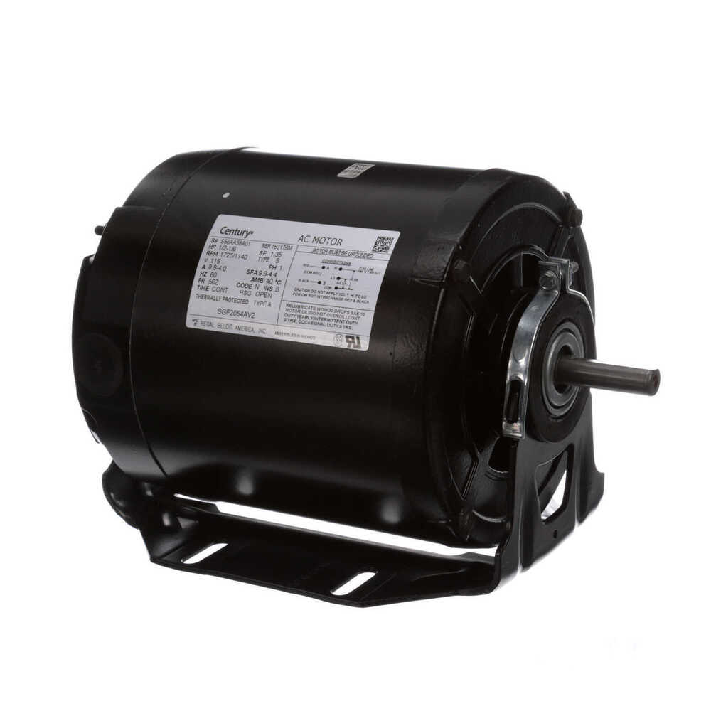 1 2 hp 1725 rpm 2 spd 56z frame 115v belt drive blower for 2 hp blower motor