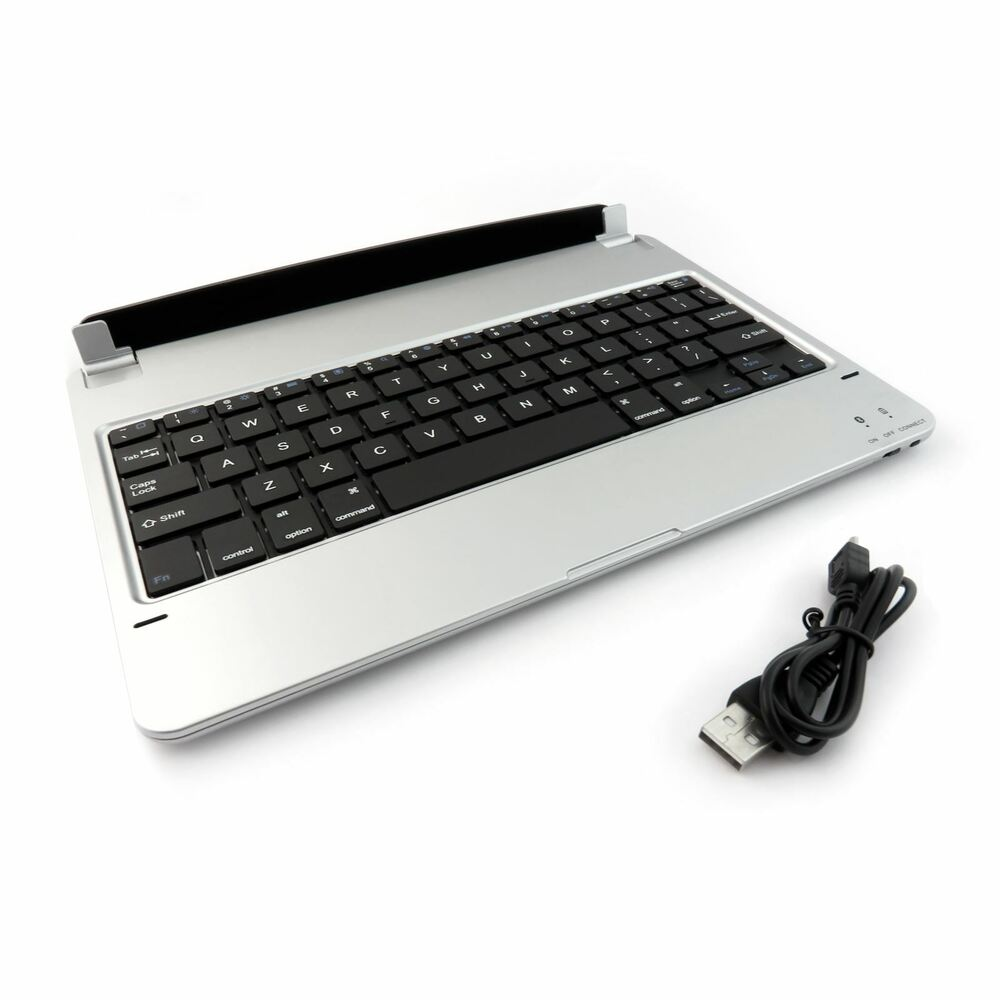 Ultrathin Bluetooth Wireless Keyboard For Apple IPad Air 2 Magnetic Stand Silver