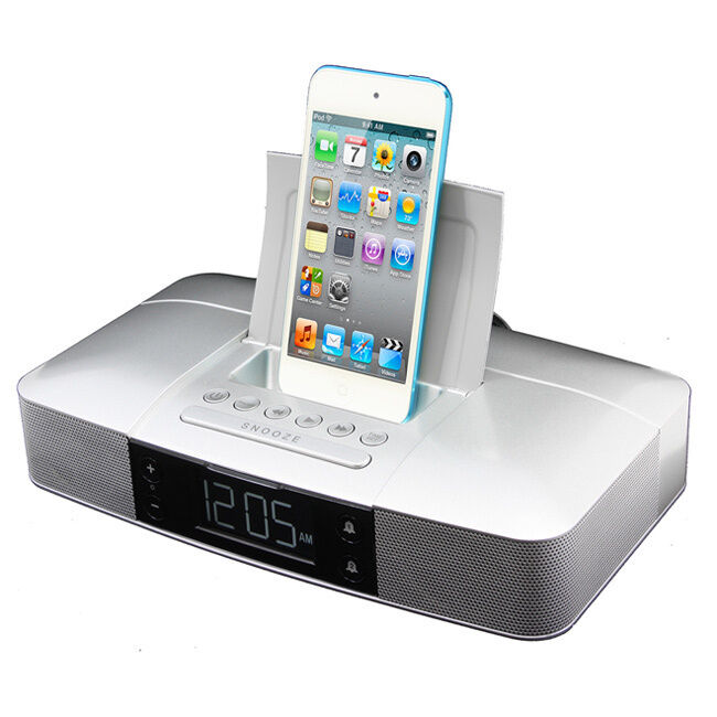 iphone lightning dock capello stereo fm clock alarm radio with lightning dock 11996