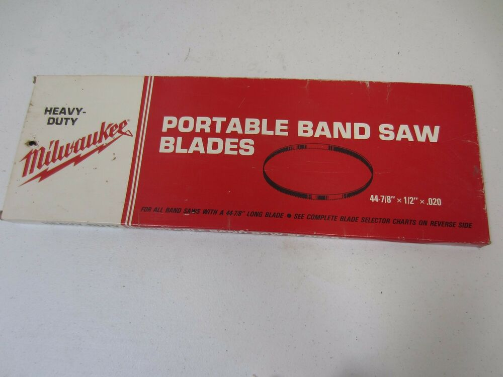 Milwaukee Portable Band Saw Blade 44 7 8 Quot X 1 2 Quot X 02 10