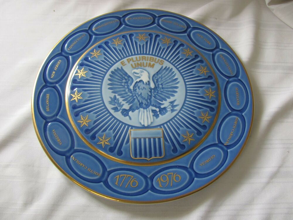 B g bing grondahl copenhagen us bicentennial plate blue for A la mode salon bay ridge