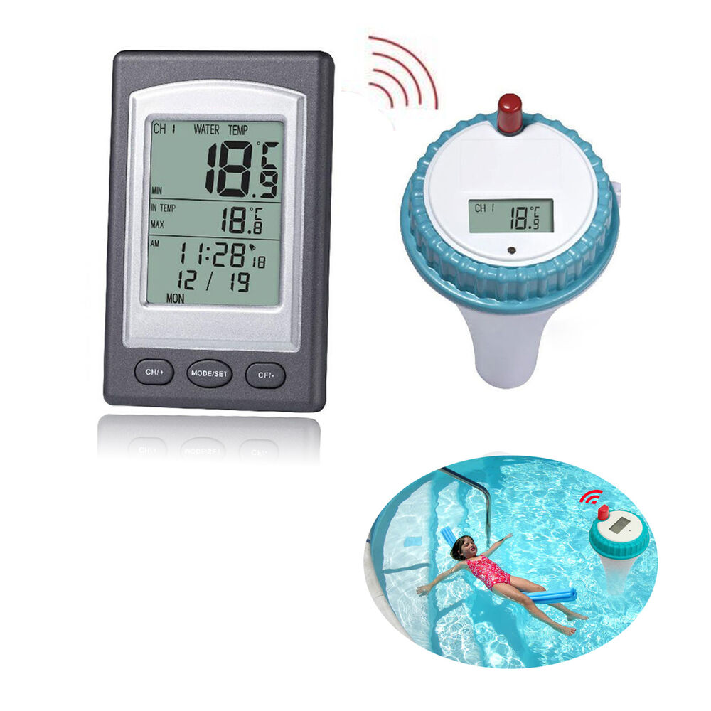 Professional wireless digital swimming pool spa remote - Swimming pool water temperature gauge ...