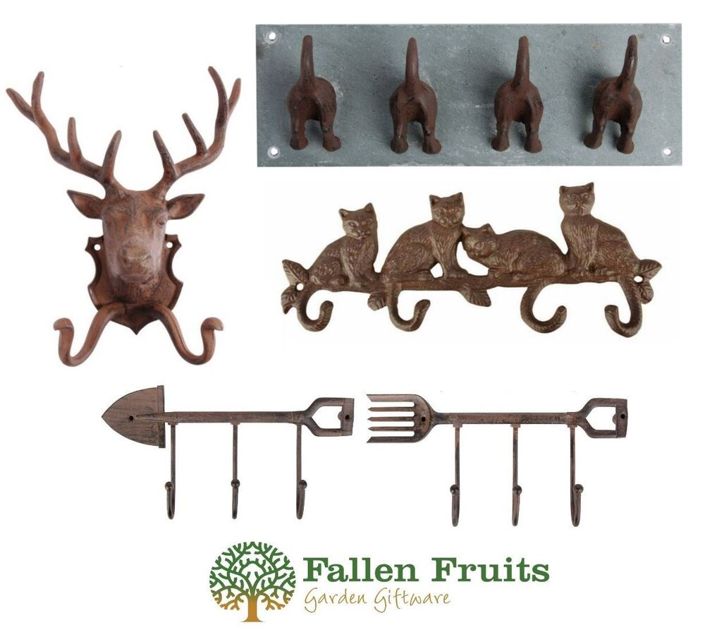 Fallen Fruits Cast Iron Coathooks Wall Hooks Deer Stag