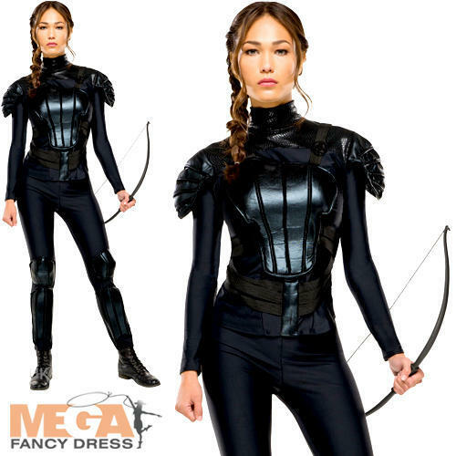 Katniss Ladies Fancy Dress The Hunger Games Mockingjay ...