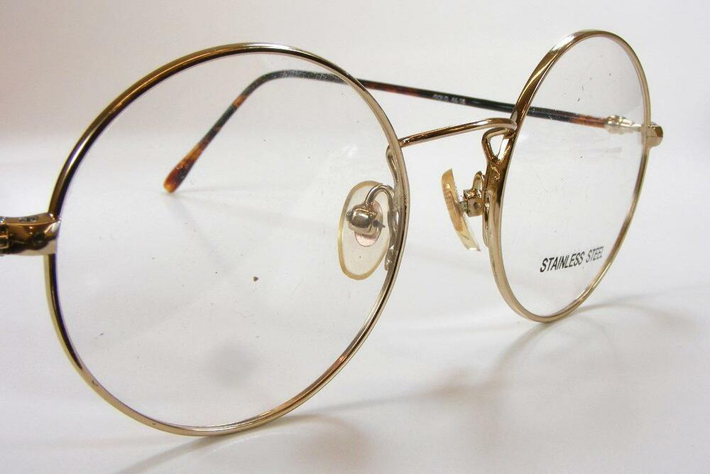 Gold And Silver Eyeglass Frames : Vintage Round Metal Prescription Eyeglass Frames John ...