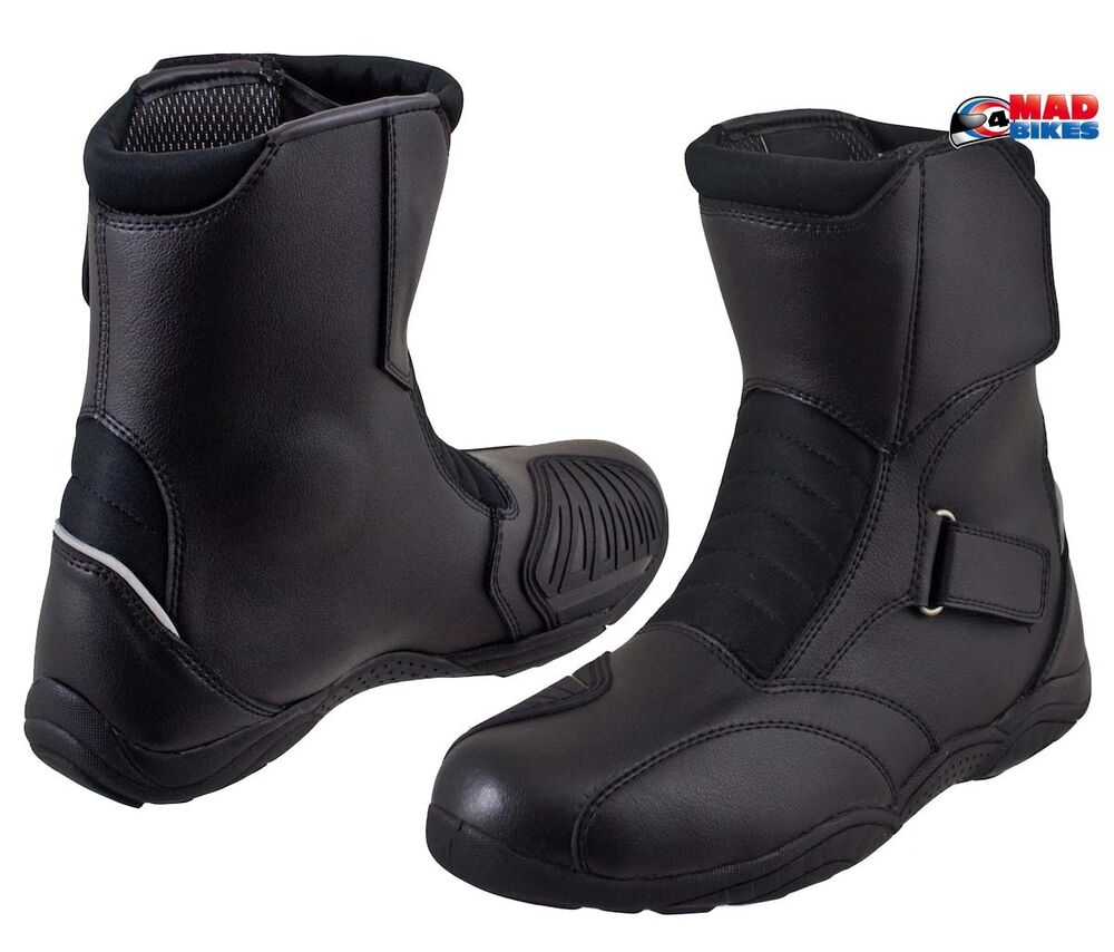 boots short motorcycle cruiser leather height mid motorbike ladies