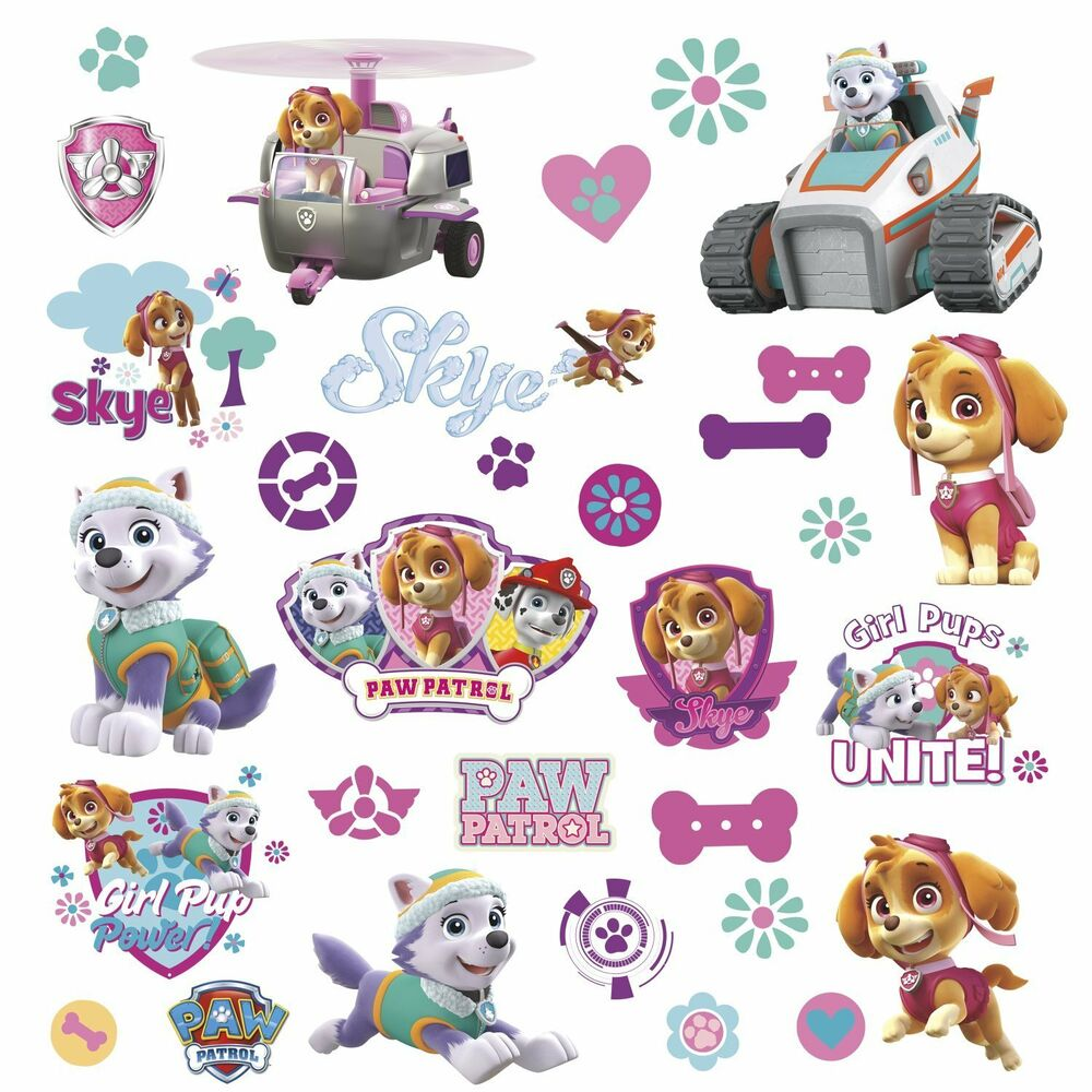 1000 Images About Ideas Pet Decor On Pinterest: PAW PATROL GIRL PUPS FIGURES Wall Decals Room Decor