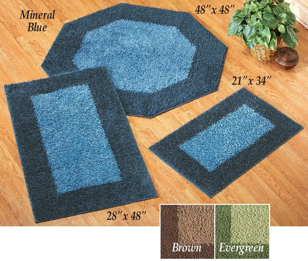 Throw Rugs Ebay: Frisse Shag Two Tone Area Throw Rugs