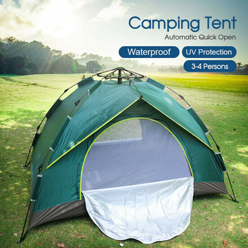 Pop Up Shelter Deck : Double layer instant auto pop up large camping tent