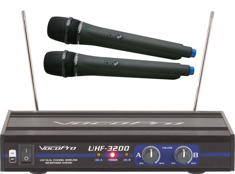 vocopro uhf 3200 pro 2 wireless uhf rechargeable karaoke microphone system 692868832000 ebay. Black Bedroom Furniture Sets. Home Design Ideas