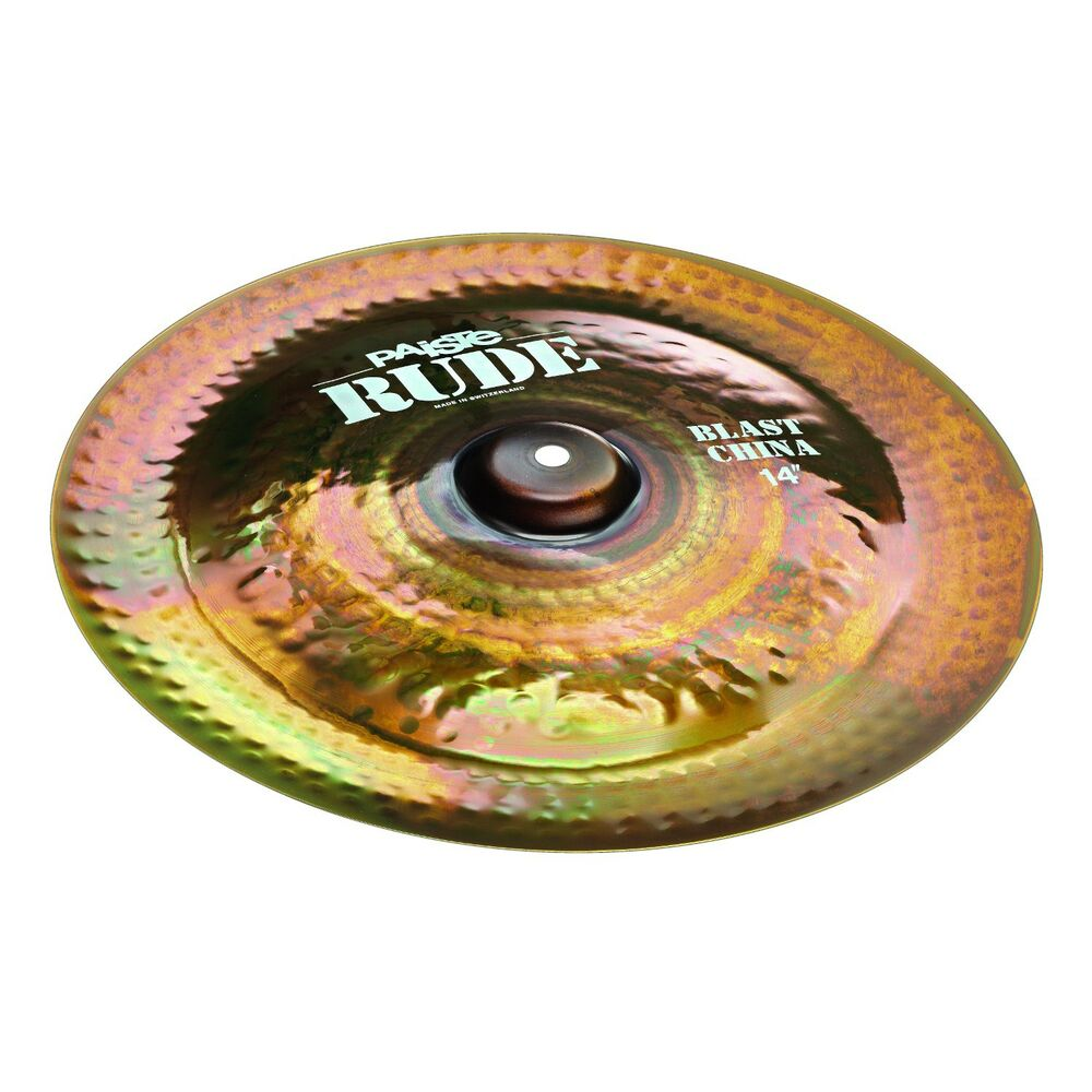 paiste 1125214 rude series 14 inch blast china cymbal with medium long sustain 697643111462 ebay. Black Bedroom Furniture Sets. Home Design Ideas
