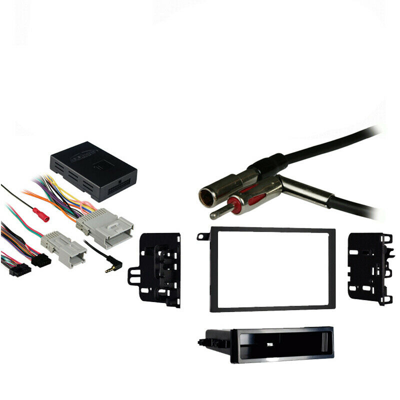 fits chevy venture van 00-05 double din stereo harness ... 03 chevy venture radio wiring harness