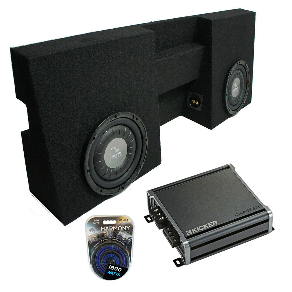 2001 2014 Ford F250 Super Crew Truck Dual 10 Subwoofer: 2005-2015 Toyota Tacoma Double Cab Truck Harmony F104 Dual