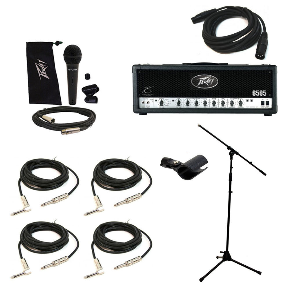 peavey 6505 electric guitar amplifier tube 120w amp head mic stand cables system 14367116731 ebay. Black Bedroom Furniture Sets. Home Design Ideas