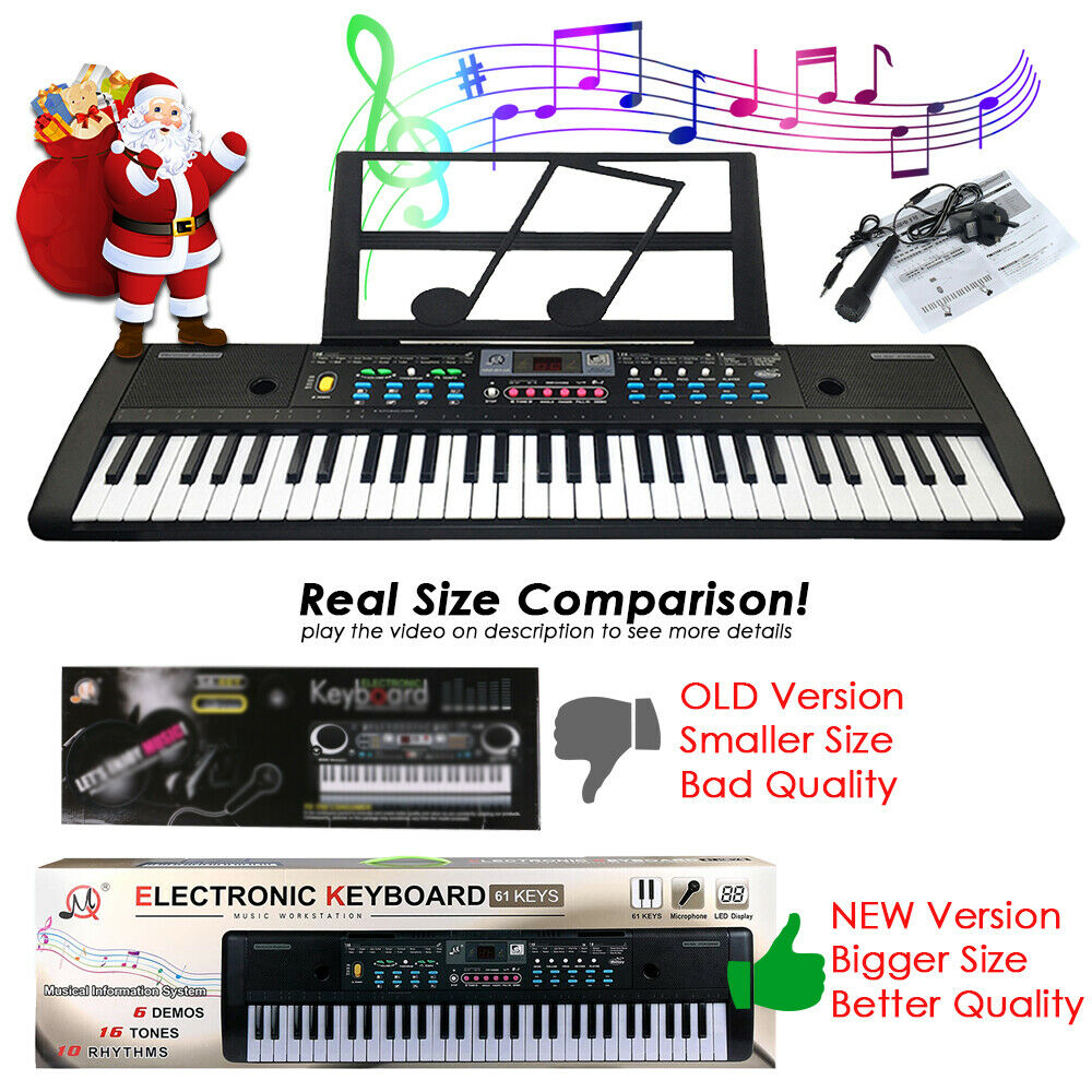 61 keys digital music electronic keyboard electric piano organ instrument talent ebay. Black Bedroom Furniture Sets. Home Design Ideas