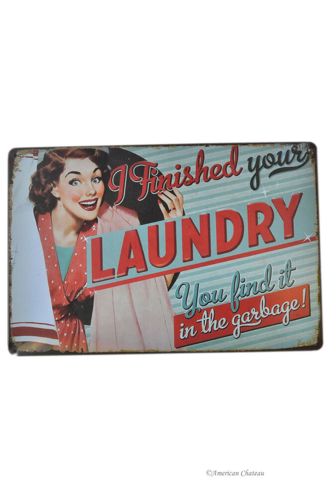 retro 12 vintage style 50 39 s ad laundry room decor metal