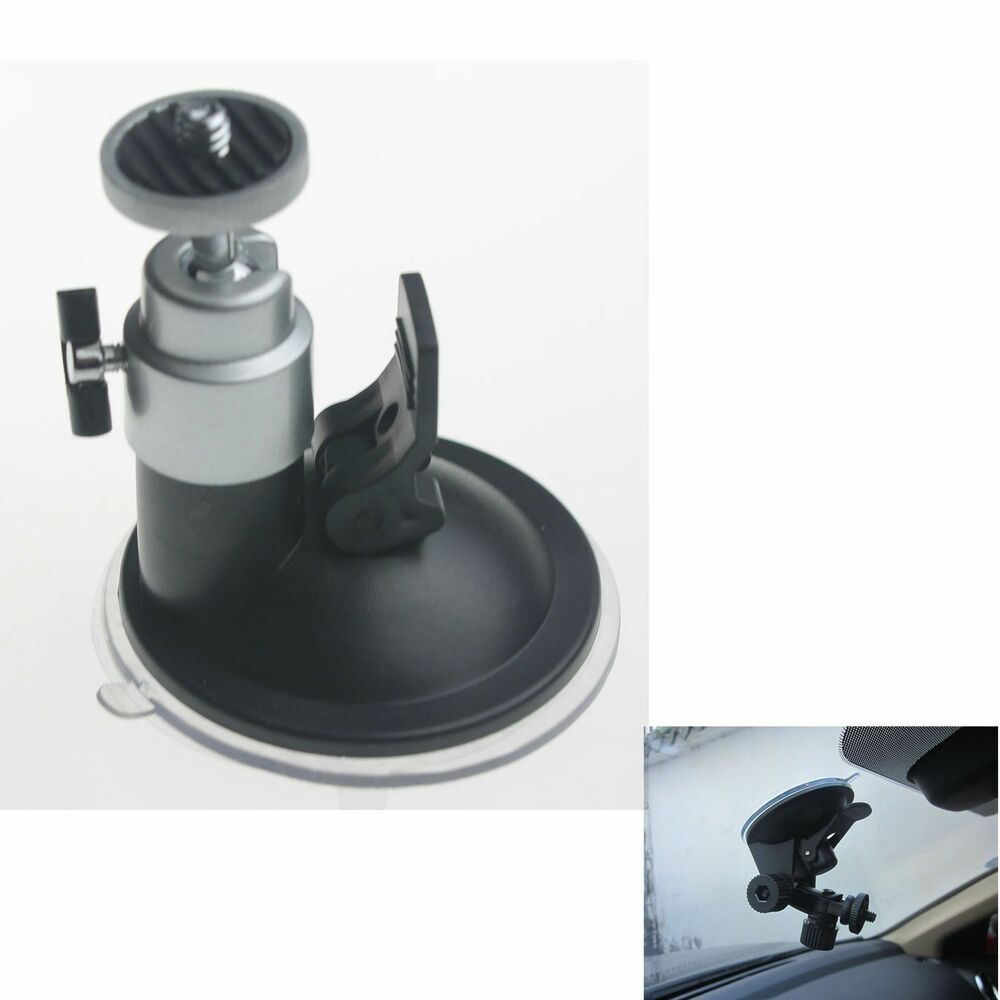 Car Video Recorder Suction Cup Mount Bracket Holder Silver