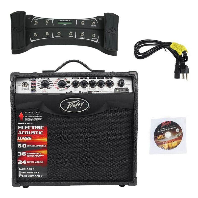 new peavey vypyr vip1 combo 8 guitar 20w amp sanpera ii dual foot controller 695976336583 ebay. Black Bedroom Furniture Sets. Home Design Ideas