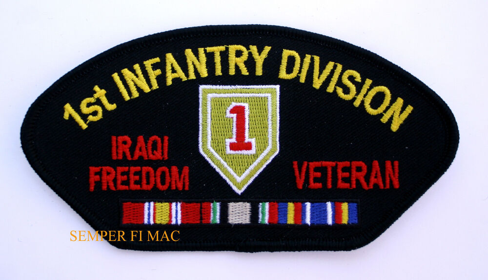 1st infantry ision iraqi freedom veteran authentic patch us army