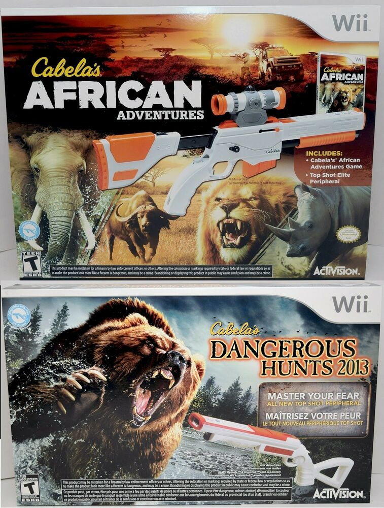 New Wii U Games 2013 : New cabela s african adventures dangerous hunts wii