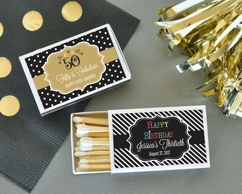 Personalized Party Favor Boxes Birthday : Personalized birthday theme match boxes party