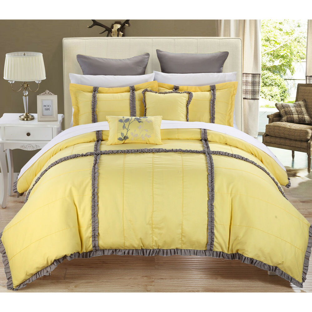 Chic Home Legenda Yellow 7-piece Comforter Set