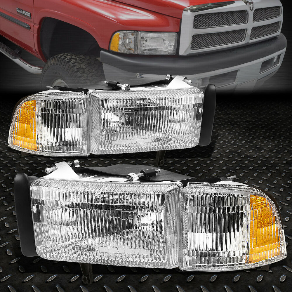 Headlights Assembly Shop: FOR 1994-2002 DODGE RAM PICKUP OE STYLE CHROME HOUSING