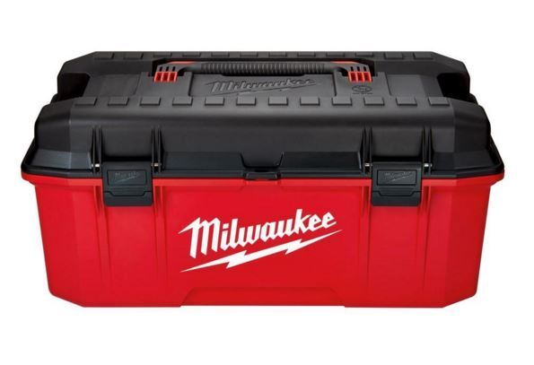Red Milwaukee Tool Box Chest Storage Portable Work Job