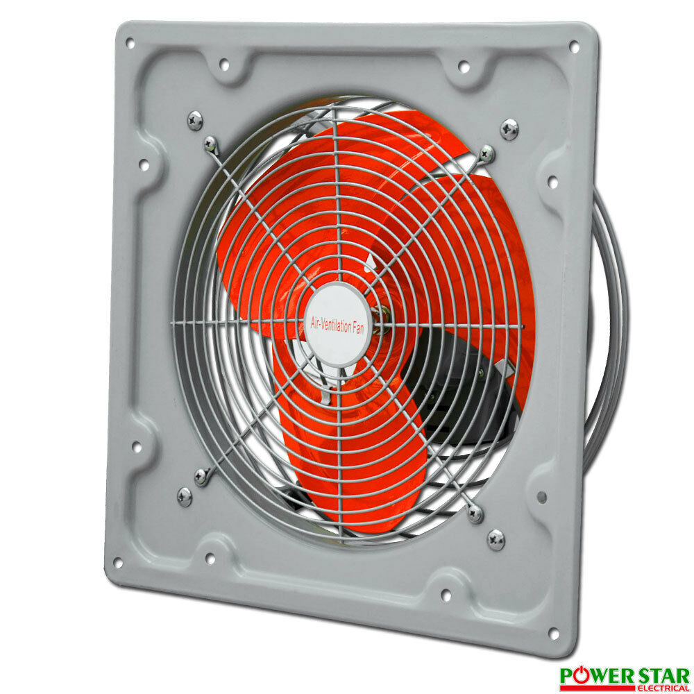 Axial Exhaust Fan : New heavy duty industrial commercial metal axial extractor